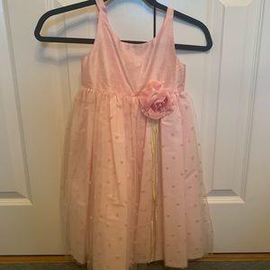 Halabaloo 100% Silk Girls Tulle Pink Dress